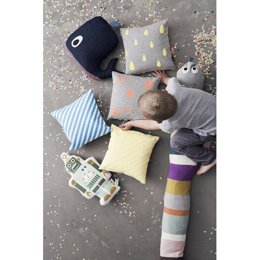 ferm LIVING Whale Cotton Cushion