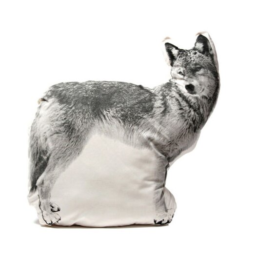 Large Organic Cotton Wolf Cushion