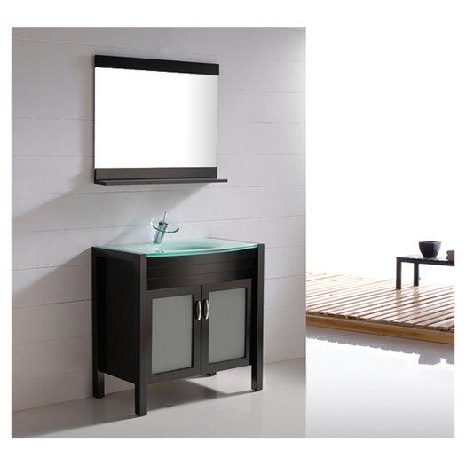 "Virtu Vina 35"" Single Bathroom Vanity Set with Mirror"