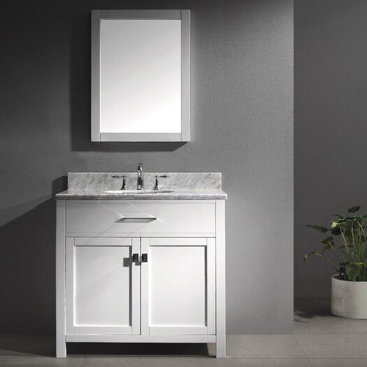 """Virtu Caroline 35.8"""" Single Sink Bathroom Vanity Set"""