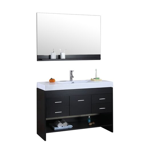 "Virtu Gloria 47"" Bathroom Vanity Set with Single Sink"