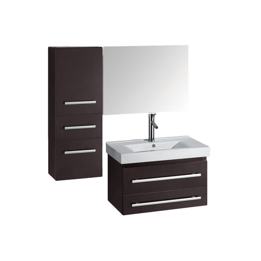 "Virtu Antonio 29"" Single Bathroom Vanity Set with Mirror"