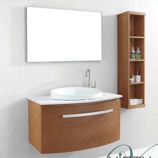 "Virtu Anabelle 39"" Single Bathroom Vanity Set with Mirror"