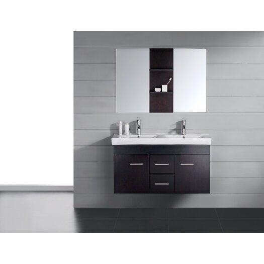 """Virtu Opal 47.2"""" Double Bathroom Vanity Set"""