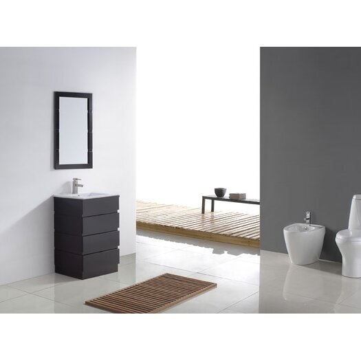 "Virtu Bruno 24"" Contemporary Bathroom Vanity Set"