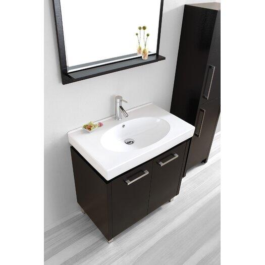 "Virtu Harmen 32"" Single Bathroom Vanity Set with Mirror"
