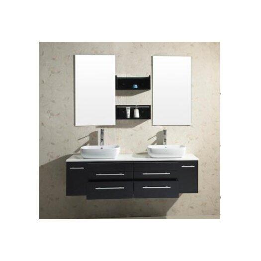 "Virtu Augustine 59.8"" Double Bathroom Vanity Set"