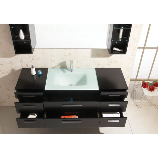 "Virtu Colombo 63"" Single Bathroom Vanity Set with Mirror"