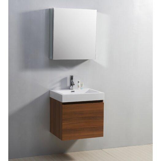 "Virtu Zuri 22"" Bathroom Vanity Set with Single Sink"