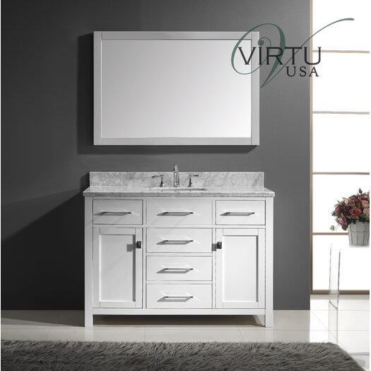 "Virtu Caroline 49"" Bathroom Vanity Set with Single Sink"