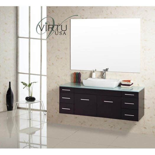 "Virtu Biagio 56"" Bathroom Vanity Set with Single Sink"