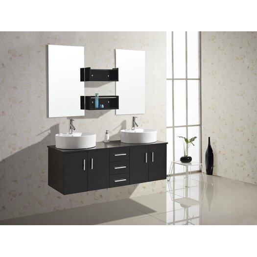 """Virtu Enya 59"""" Bathroom Vanity Set with Double Sink"""