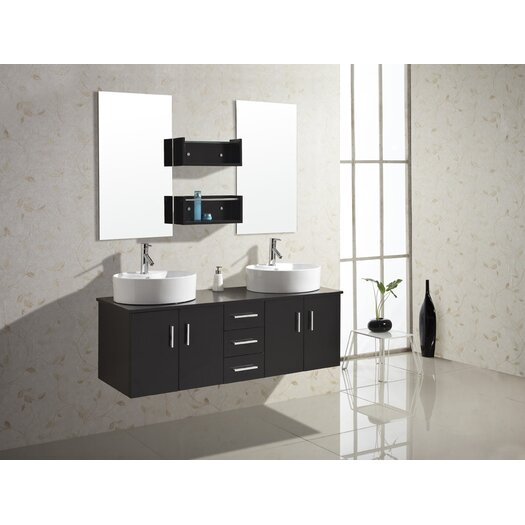 """Virtu Enya 59.1"""" Double Bathroom Vanity Set"""