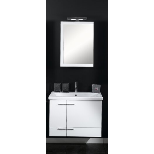 "Iotti by Nameeks Simple 32"" Single Wall Mounted Bathroom Vanity Set with Mirror"
