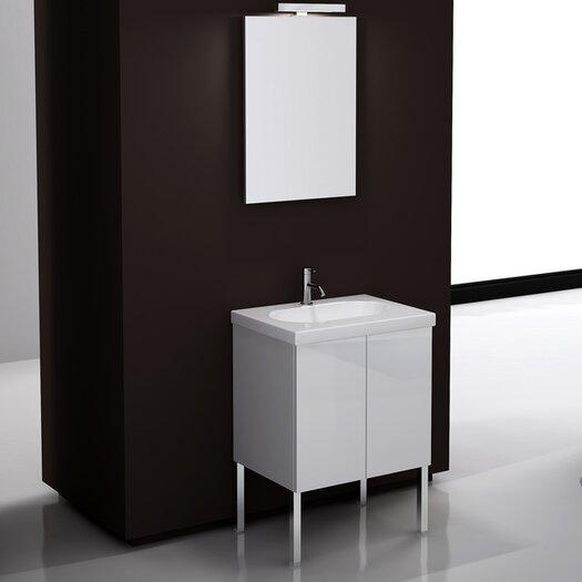 """Iotti by Nameeks Trendy 23.6"""" Footed Bathroom Vanity Set"""