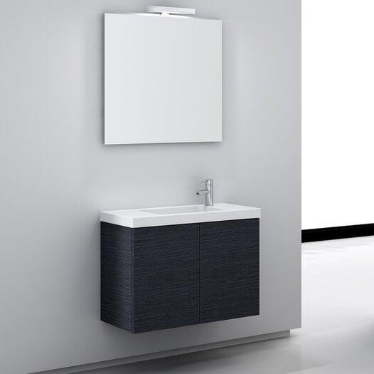"Iotti by Nameeks Happy Day 32"" Single Wall Mount Bathroom Vanity Set with Mirror"