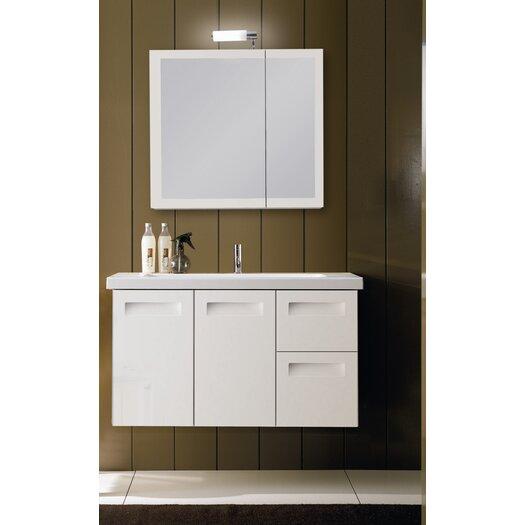 "Iotti by Nameeks Integral 39"" Single Wall Mounted Bathroom Vanity Set with Mirror"