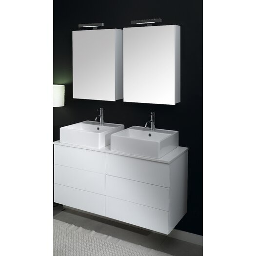 "Iotti by Nameeks Time 47.2"" Wall Mounted Bathroom Vanity Set"