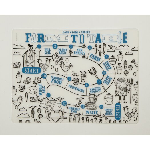 Modern-twist Farm to Table Placemat