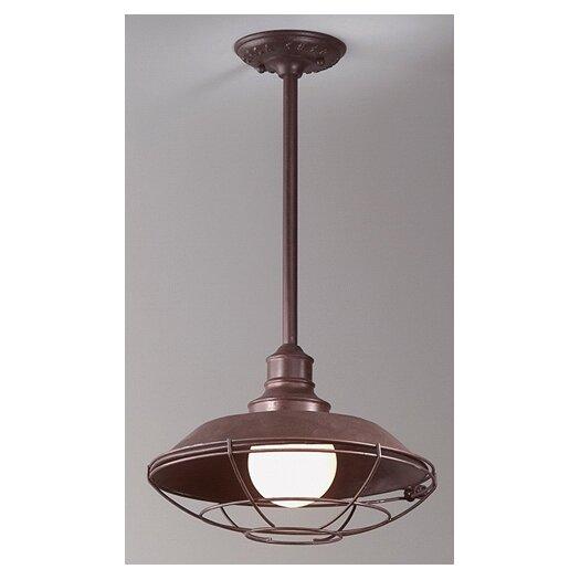 Troy Lighting Circa 1910 1 Light Hanging Lantern in Old Rust