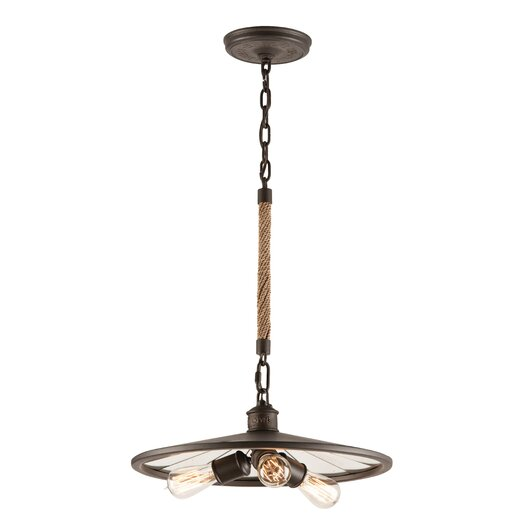 Troy Lighting Brooklyn 3 Light Pendant