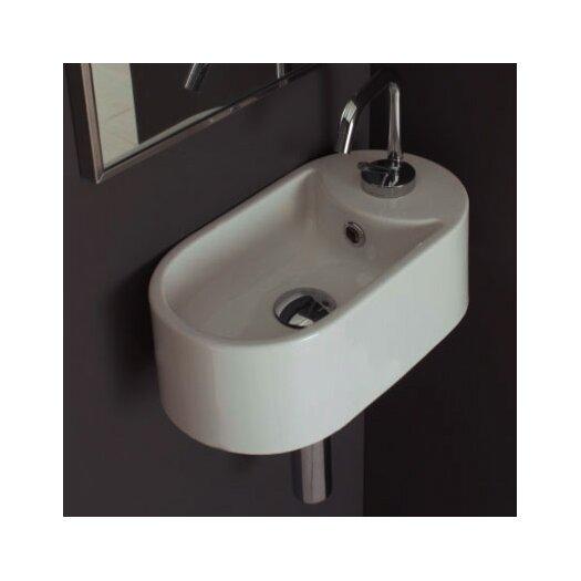 Scarabeo by Nameeks Seventy Wall Mounted Single Hole Bathroom Sink