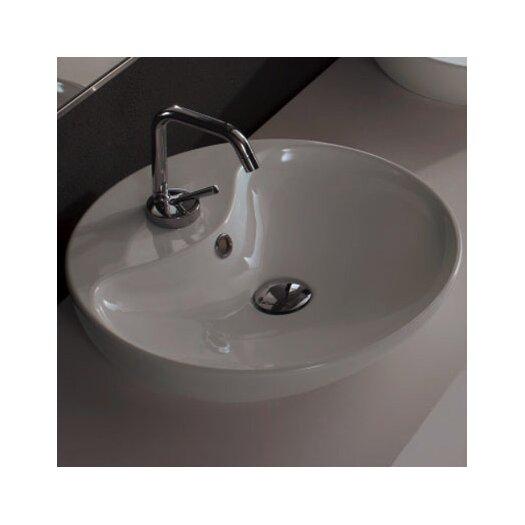 Scarabeo by Nameeks Shape Above Counter Single Hole Bathroom Sink