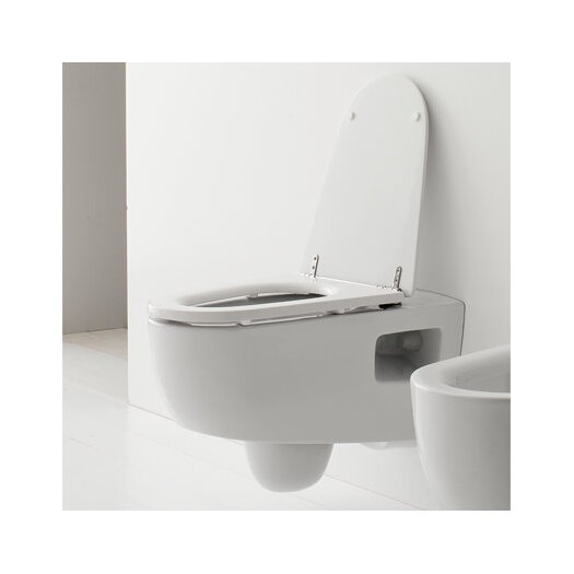 Scarabeo by Nameeks Tizi Wall Mounted Elongated 1 Piece Toilet