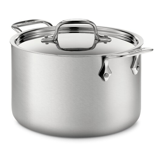 All-Clad d5 Brushed Stainless Steel 4 Qt. Soup Pot with Lid