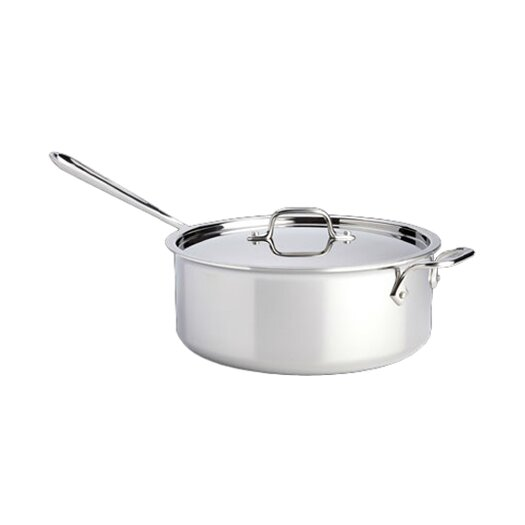 All-Clad Stainless Steel 6 Qt Saute Pan with Lid