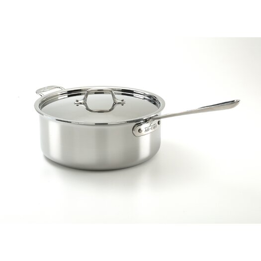 All-Clad Stainless Steel 6-qt. Saute Pan with Lid