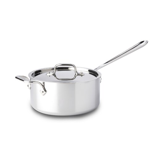 All-Clad Stainless Steel Saucepan with Lid and Loop