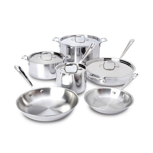 All-Clad Stainless Steel 10-Piece Cookware Set I