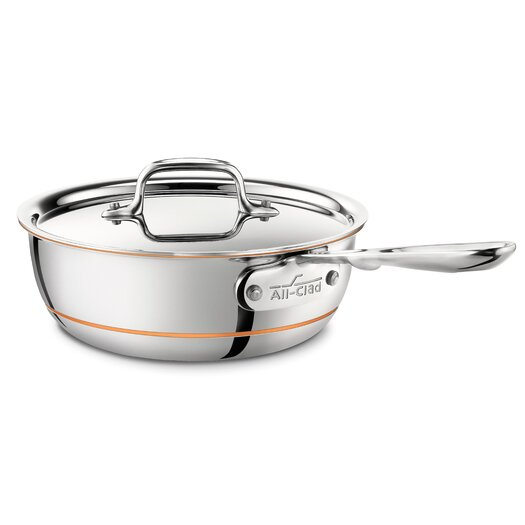 All-Clad Copper Core 2-qt. Saucier with Lid