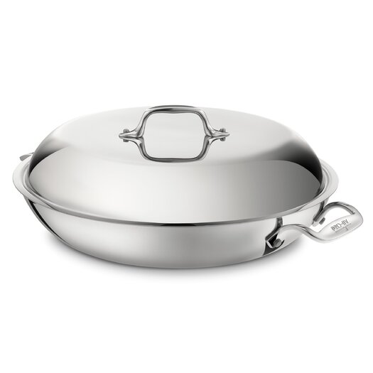 All-Clad Stainless Steel 4-qt. Aluminum Round Braiser with Lid