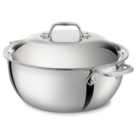 All-Clad Stainless Steel 5.5 Qt. Round Dutch Oven