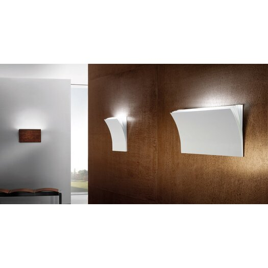 Axo Light Polia 1 Light Wall Sconce in Textured White