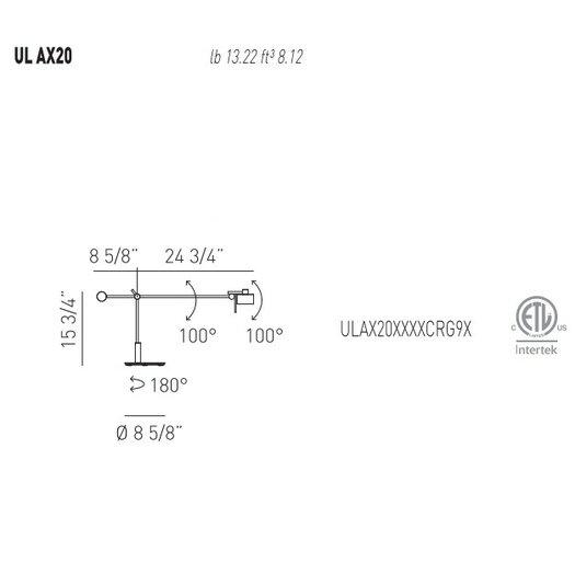 "Axo Light AX20 15.75"" H Table Lamp"