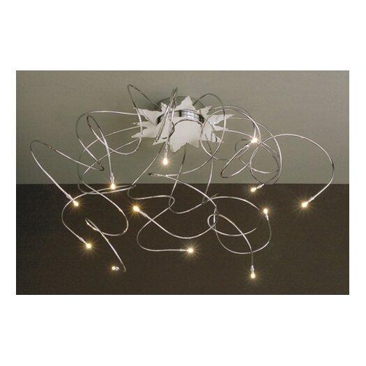 Lucifero Illuminazione Faal Small 12 Lights Semi Flush Ceiling Lamp in Chrome