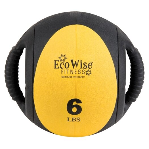 Eco Wise Fitness Dual Grip Medicine Ball