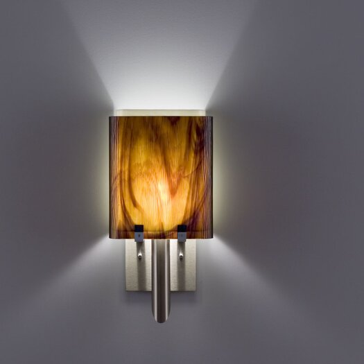 WPT Design Dessy1/8 1 Light Double Pane Wall Sconce