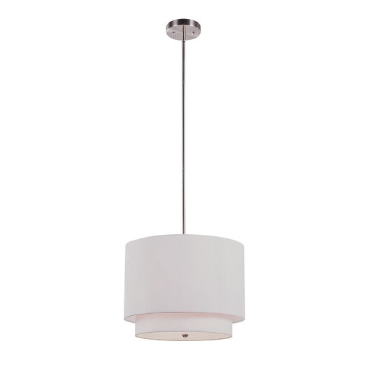 TransGlobe Lighting Alanna 3 Light Drum Pendant