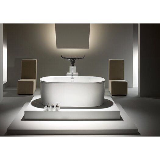 """Kaldewei Centro Duo 67"""" x 30"""" Oval Bathtub with Molded Panel"""