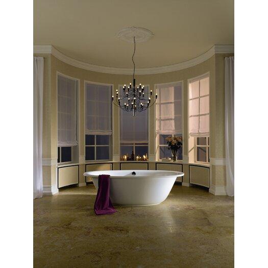 "Kaldewei Luxxo Duo 75"" x 39"" Oval Bathtub"