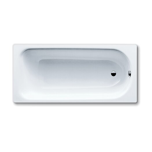 "Kaldewei Saniform Plus 63"" x 30"" Three Wall Bathtub with Reversible Drain"
