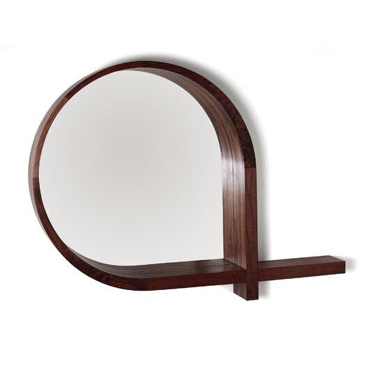 Skram Lineground Round Mirror and Shelf