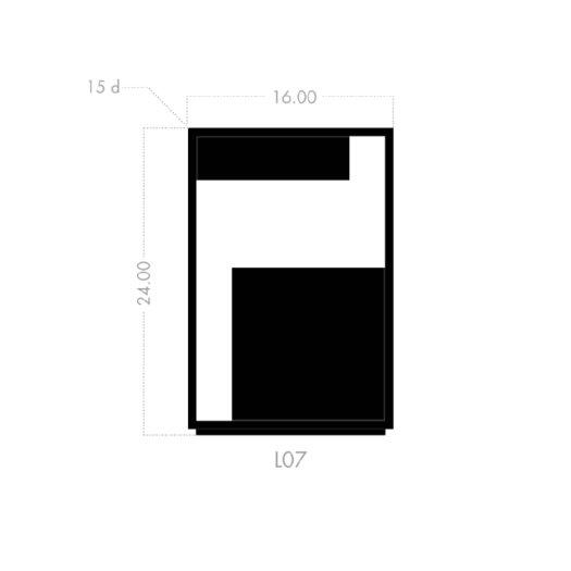 Skram Lineground Side Table / Nightstand #2