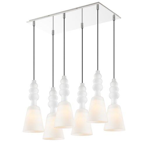 Golden Lighting Sil 6 Light Pendant
