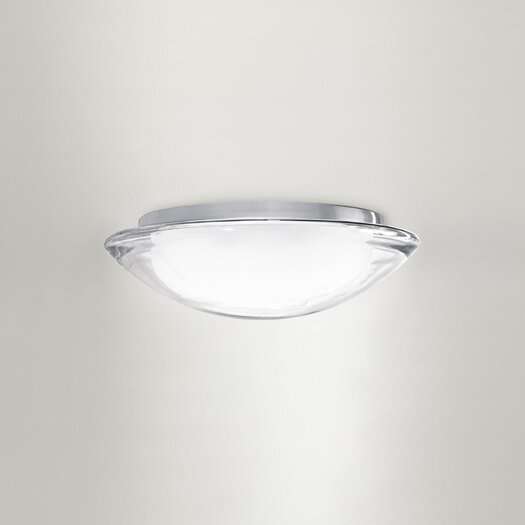 Zaneen Lighting Boreale Large Single Light Flush Mount in Gray