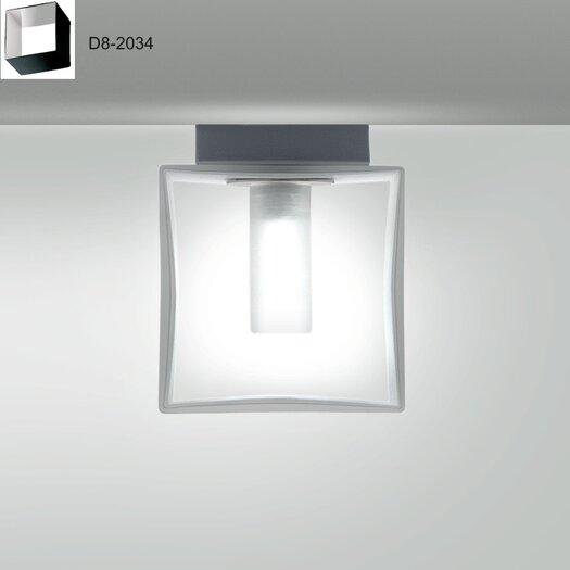 Zaneen Lighting Domino One Light Flush Mount  /  Wall Sconce